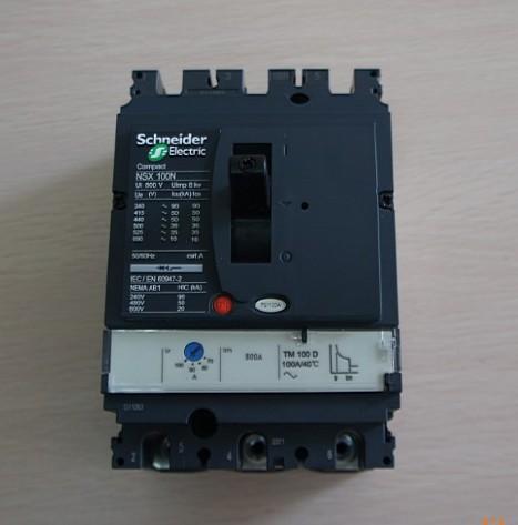 施耐德NSX100H TM80D 4P4D塑壳断路器
