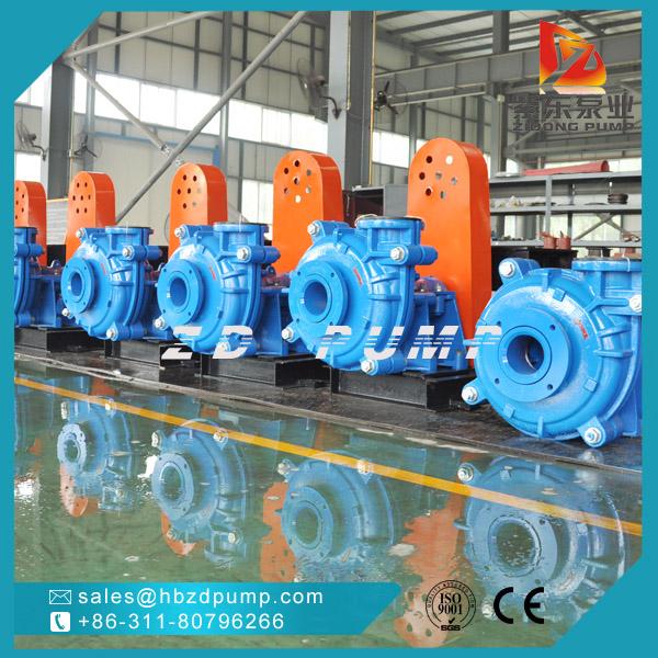 石家莊水泵廠專業A05高鉻合金Cr27耐磨材質離心渣漿泵灰漿泵