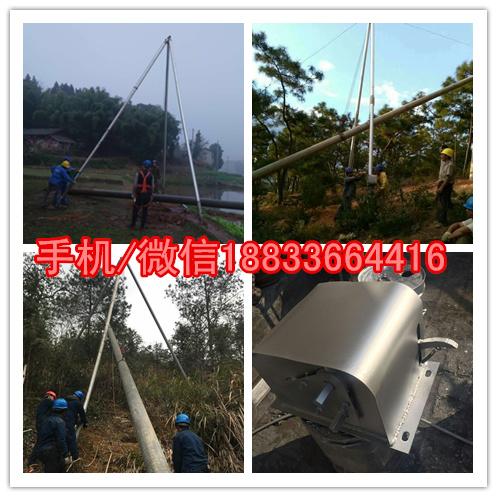 水泥杆立杆机销售 三角拔杆 铝合金拔杆