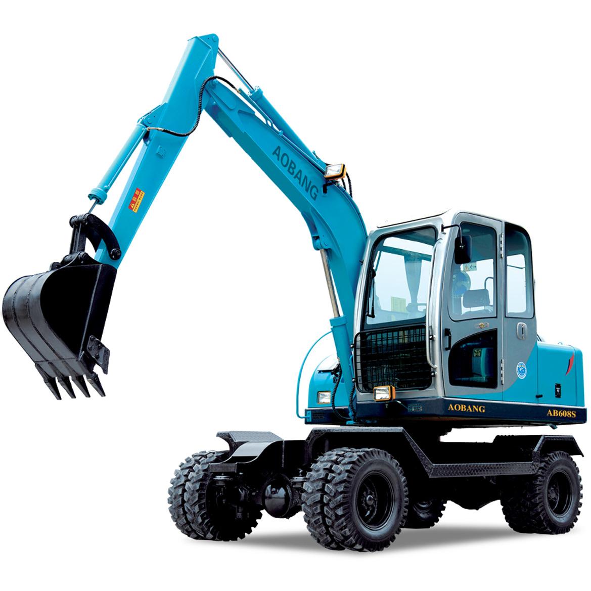 奥邦AB-608S小型轮式挖掘机