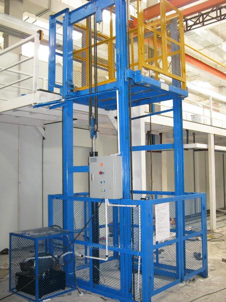 导轨,链条式升降货梯平台_液压机械栏目_机电之家网图片