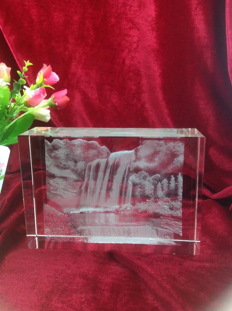 乐山旅游纪念品定制 水晶纪念内雕 风景内雕摆件