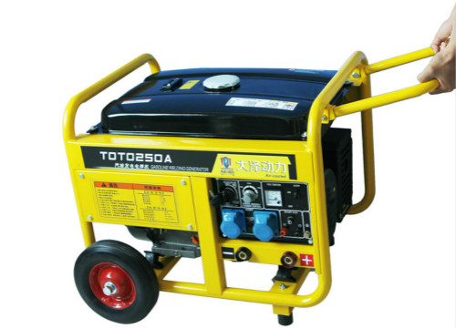 铁路局专用 长输管道/250A便携式汽油发电电焊一体两用机