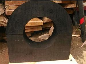邯郸市大型管道空调管托30*30防腐垫木价格 河北方圆木托专业生产厂家