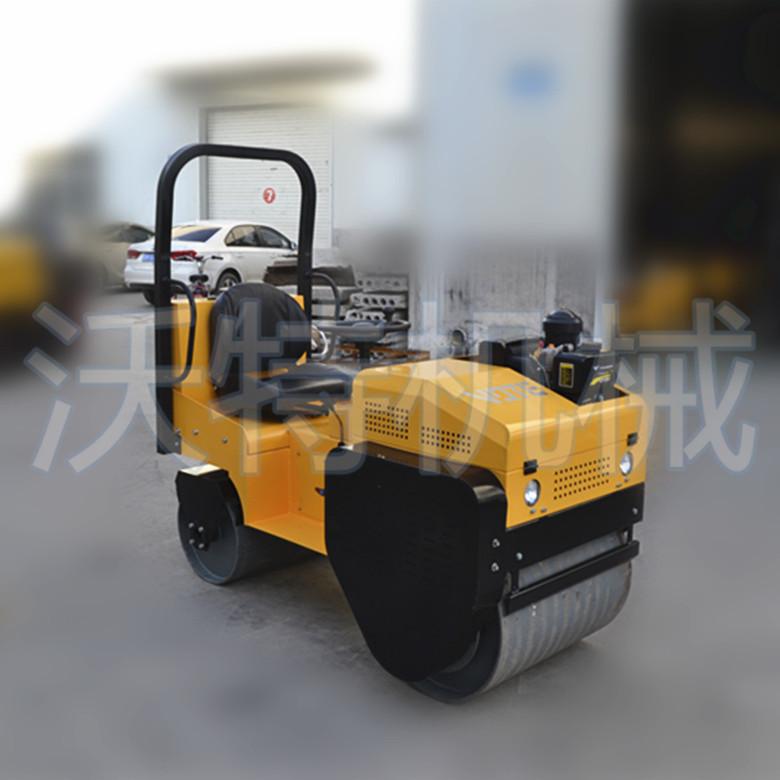 汽油小型驾驶式压路机 功能性的双钢轮小压路机