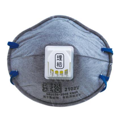 理松2102V防顆粒物及有機蒸氣異味口罩