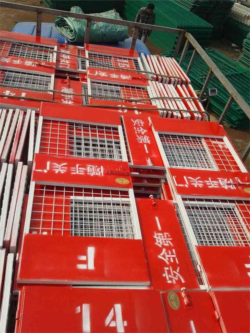 建筑工地楼层电梯井门介绍图片安装厂家
