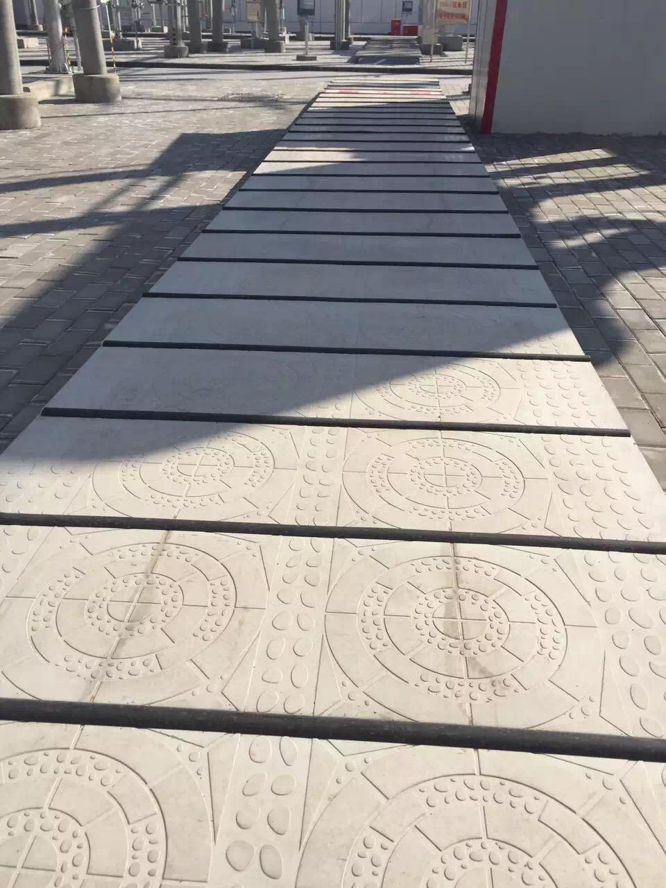 润达鹅卵石电力盖板 水泥盖板 无机复合盖板