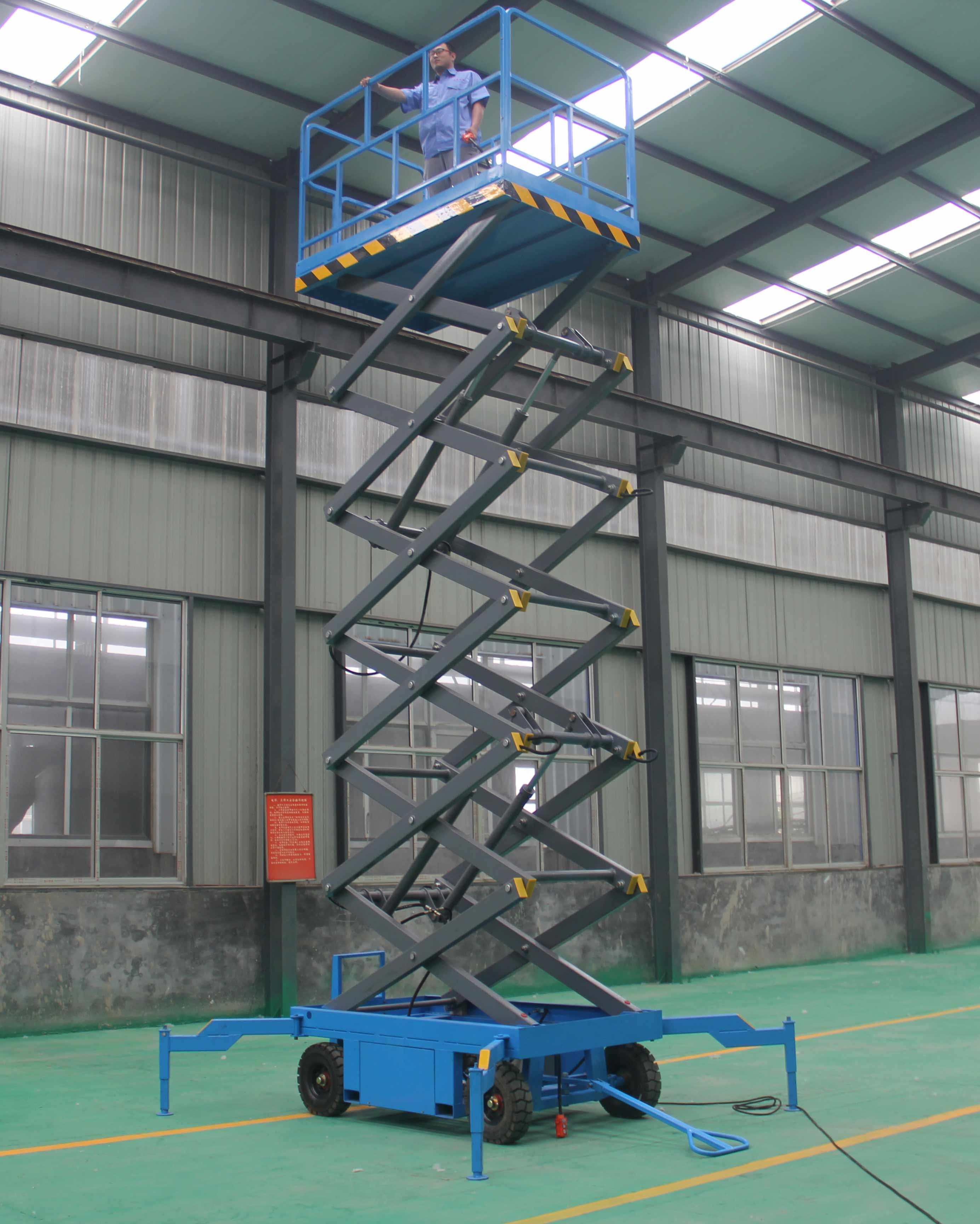 300公斤12米电动升降平台防城港销售网点找滨河升降平台