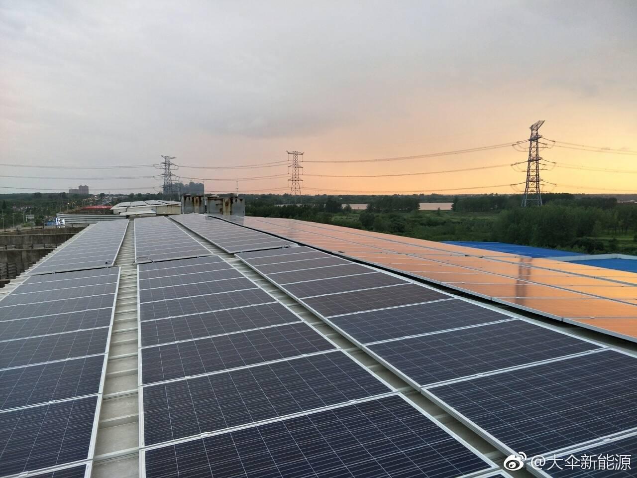 工业屋顶100KW光伏电站