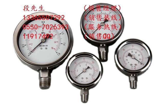 全不锈钢压力表Y-60B/0~1.6Mpa