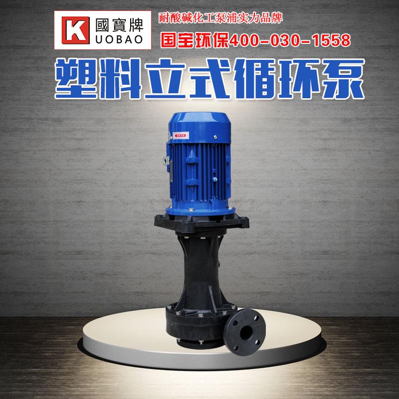苏州耐酸碱立式泵 国宝立式污水泵 PP材质耐腐蚀
