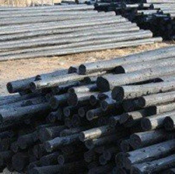 供應6-10米防腐油木桿