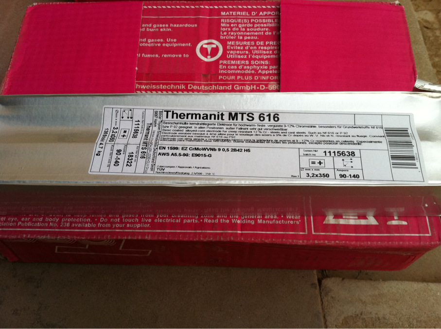 Thermanit 625、ENiCrMo-3蒂森镍基焊条