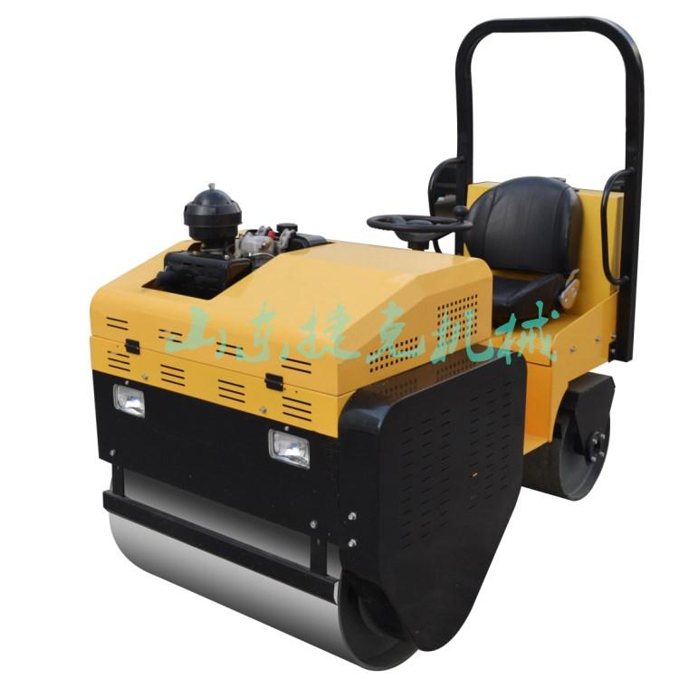 山東捷克座駕式小型壓路機的品質廠家直供小型振動手扶壓路機