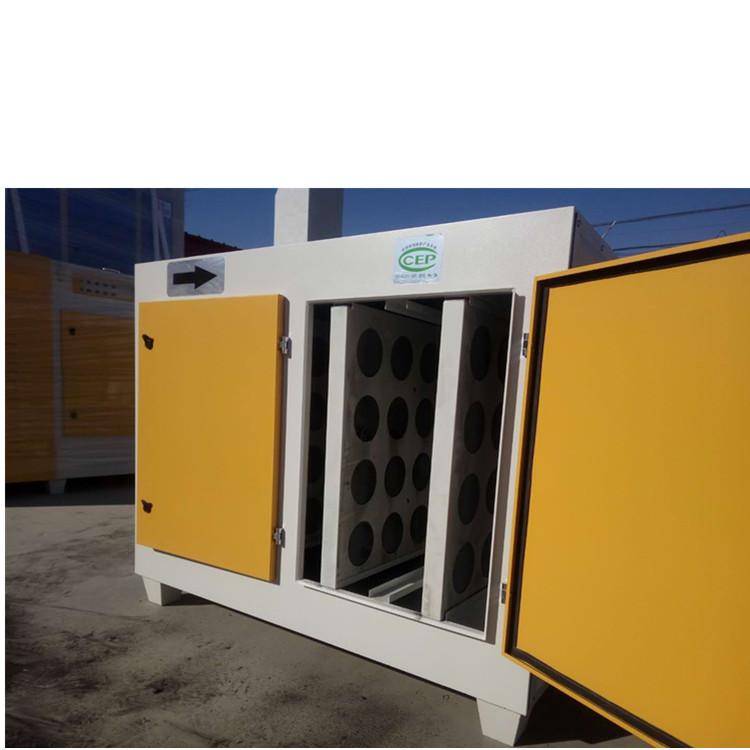 烟台专业生产活性炭干式漆雾环保箱图片