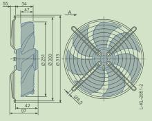 变压器冷却FN025-2E.WA.7施乐佰轴流风机