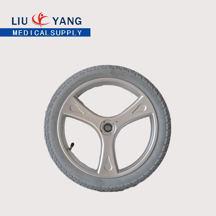 老年人残疾人电动轮椅配件12寸轮胎 优质厂家直销工厂价格 充气轮胎 轮毂总成