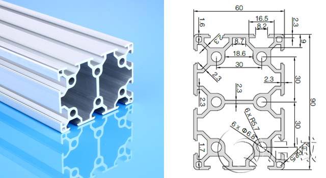启域工业铝型材加工定制6090欧标铝型材产线工作台