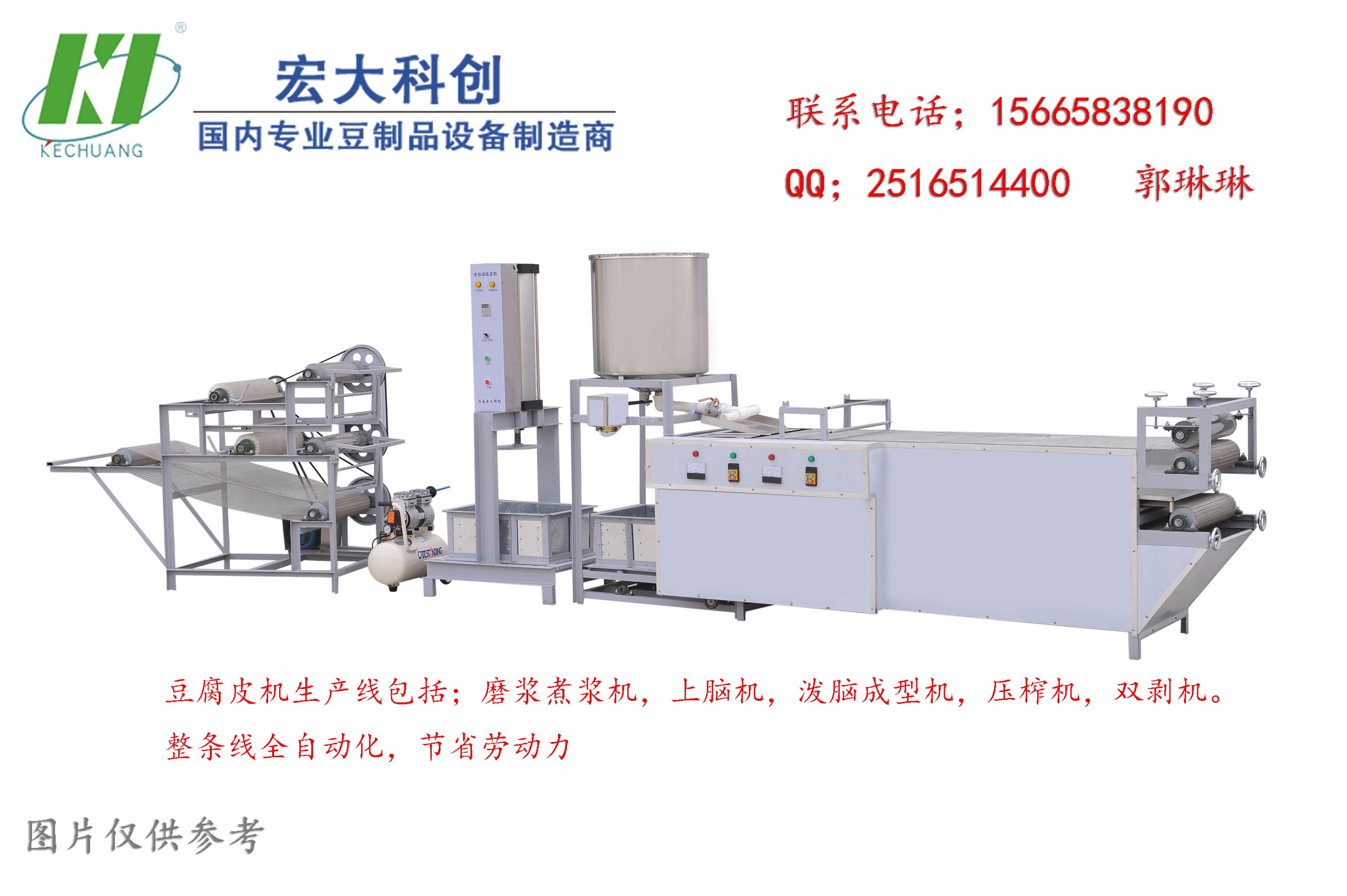 大型豆制品生产加工设备     豆腐皮机生产线的价格