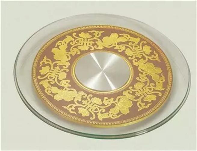餐桌转盘钢化玻璃饭店大圆桌玻璃转盘底座圆台面旋转桌面转盘家用