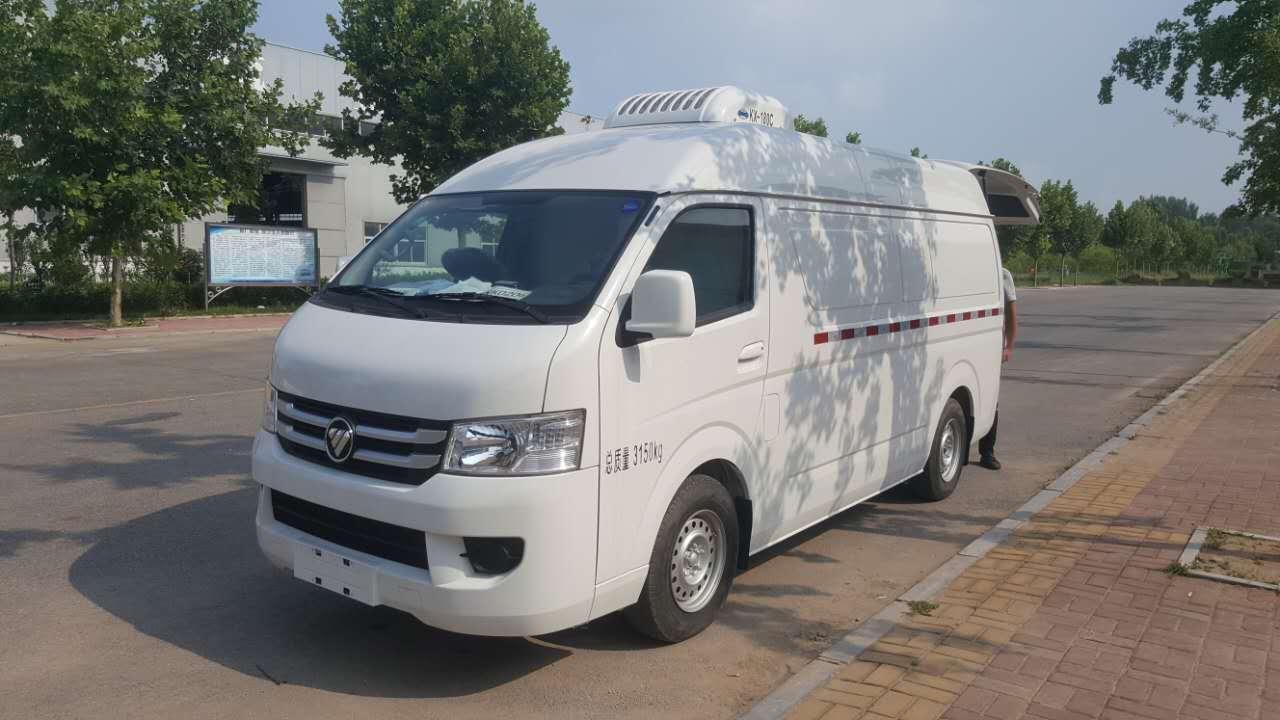 松川福田面包厢式冷藏车