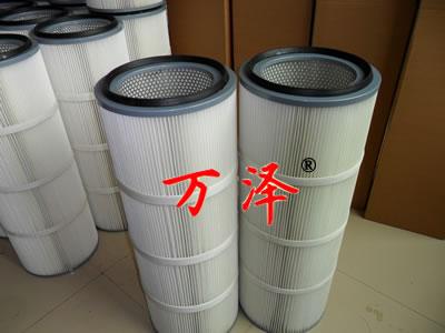 造船厂喷砂房1.3米高除尘滤芯厂家定做【万泽】
