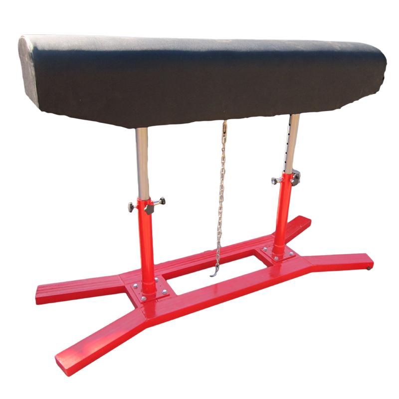 训练比赛用双立柱升降式跳马、鞍马 可根据用户要求订做、印制log
