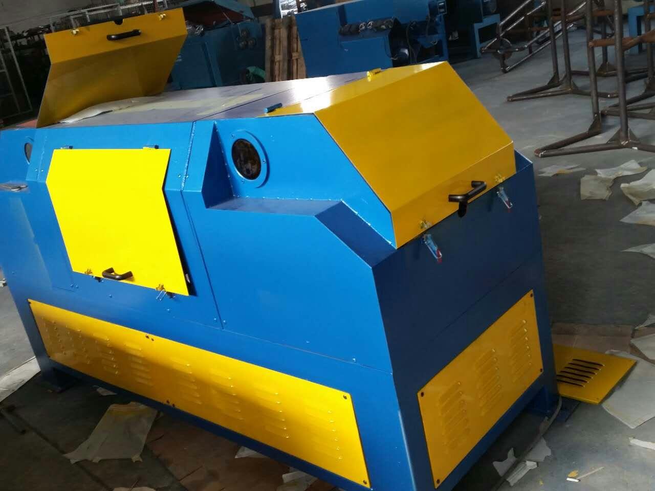 焊絲生產盤圓專用無酸洗砂帶環保除銹機SD-55