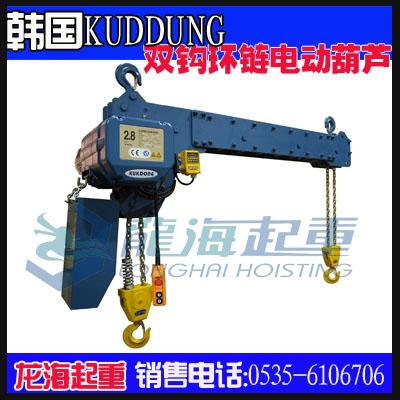 1吨双钩环链电动葫芦,优质环链电动葫芦商家/批发