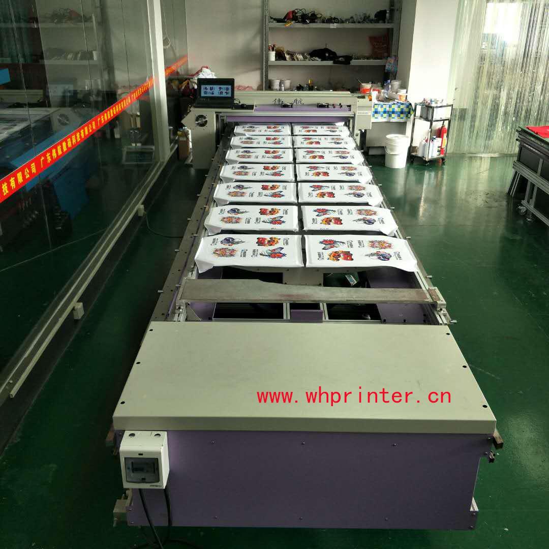 广东伟航数码厂家直销爱普生四色平板打印机 服装印花机