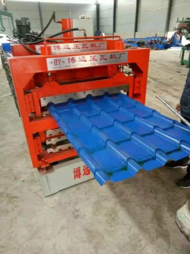 全自动三层竹节琉璃瓦压瓦机设备客户定做各种尺寸
