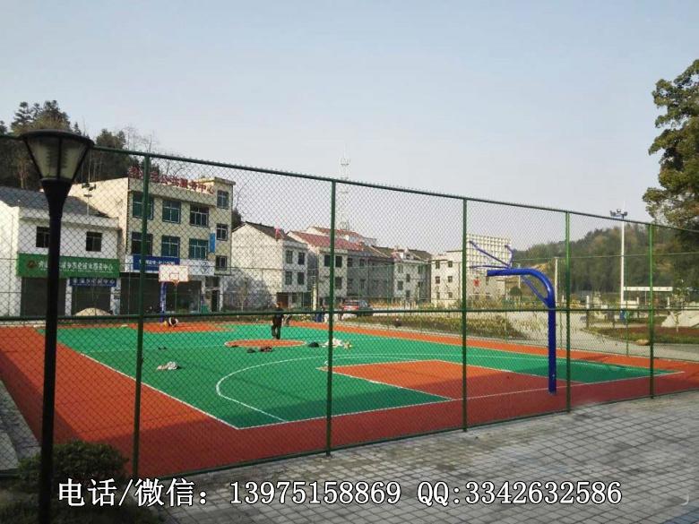 郴州生产公园体育场围网厂家|永兴学校篮球场围网现场施工安装
