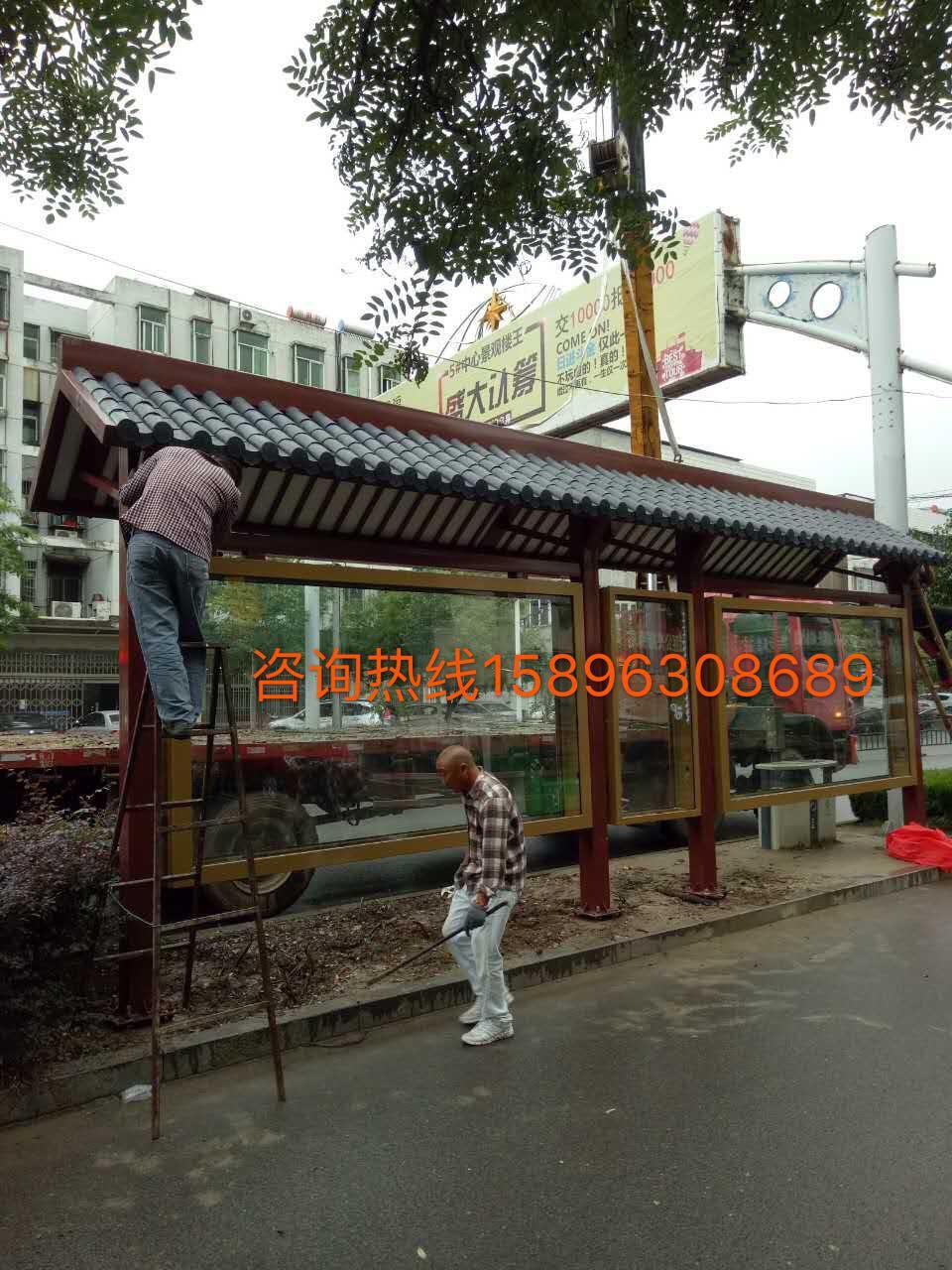 浙江省公交候车亭|公交站台灯箱生产厂家