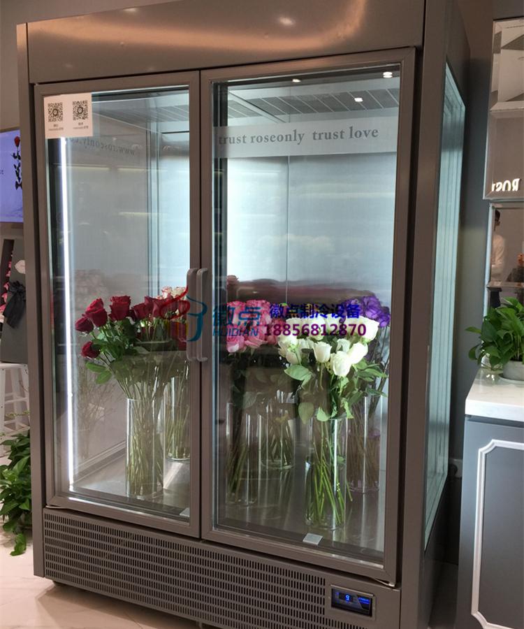 立式风冷玻璃门鲜花柜,重庆定做鲜花冷藏柜厂家