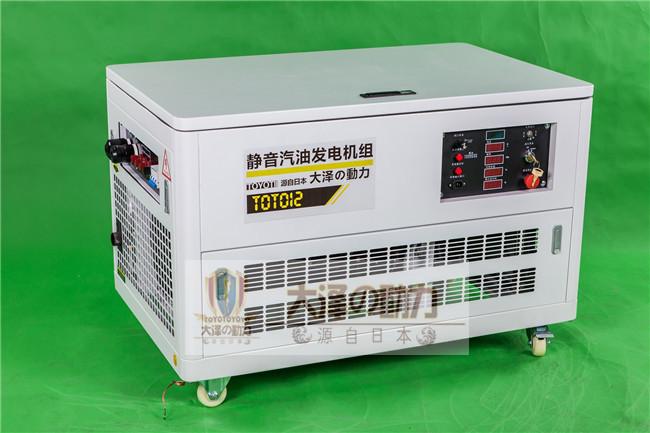 12kw箱体式汽油发电机大泽