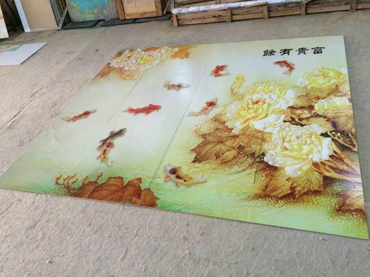 深圳生产3D背景墙喷绘机的工厂
