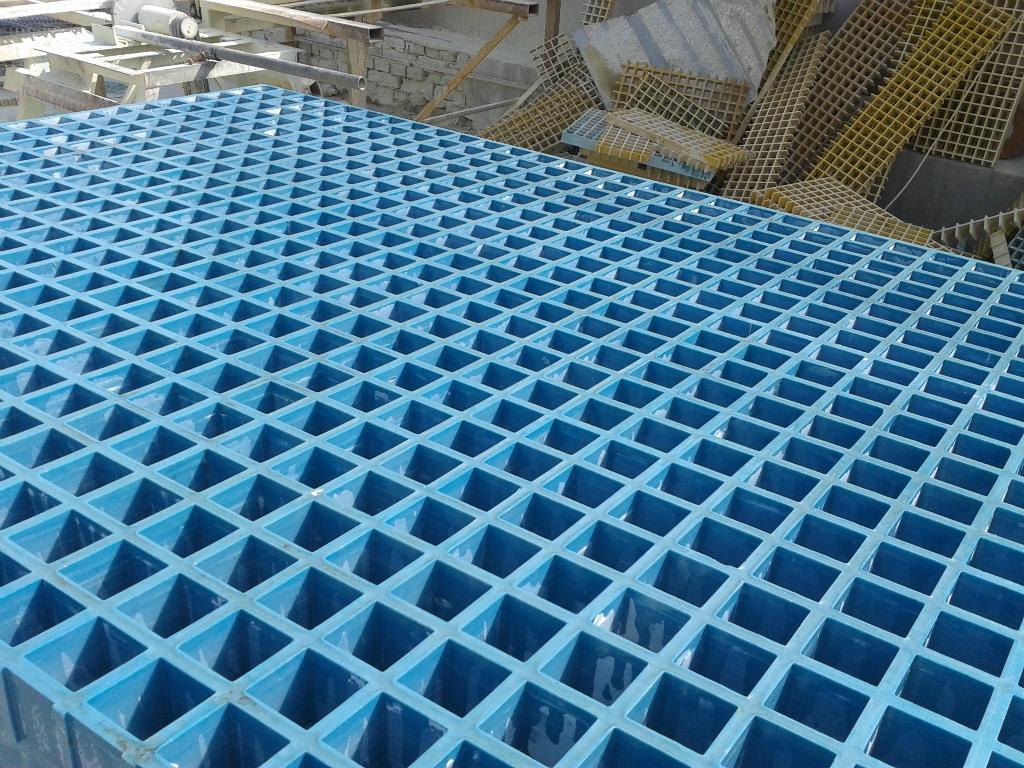 玻璃钢格栅 电镀厂玻璃钢格栅板 防腐防滑玻璃钢栅板图片
