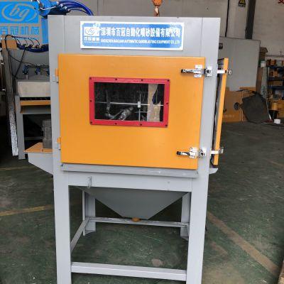 多功能自動轉臺環保噴砂機 bg-1010-3a單轉盤除銹噴砂機 水噴砂機
