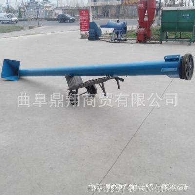 小型饲料螺旋输送机管式五轴螺旋提升机定制起重装卸设备