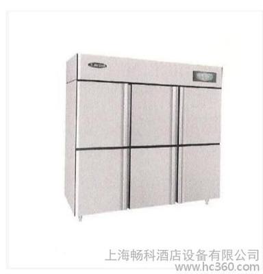 洛德6门商用双机双温直冷冰箱冷藏铜管