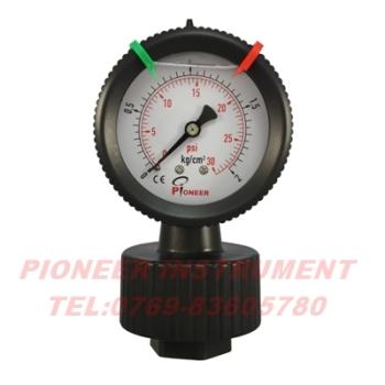 供应过滤机专用优质pp隔膜压力表