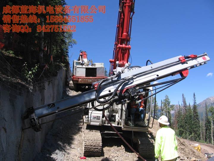 隧道涵洞挖機改鉆機方法