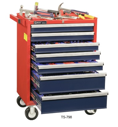 天赋genius工具ms-361ts361件套公制及英制综合工具配工具车
