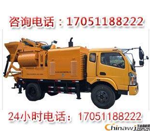 亳州車載攪拌拖泵一體機混凝土地泵