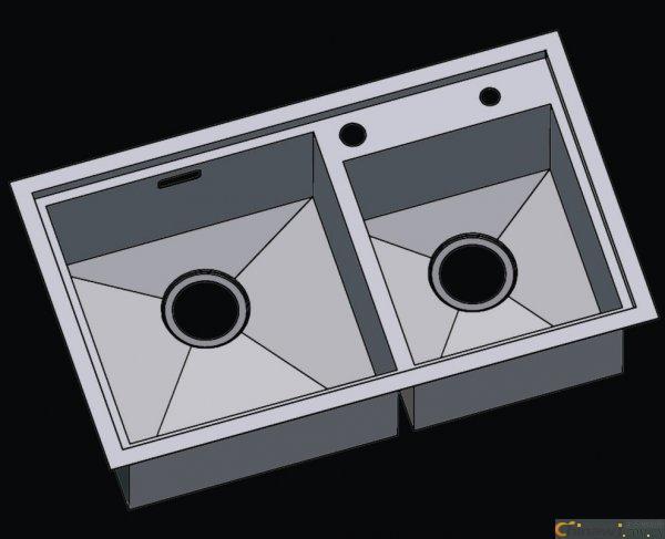 304不銹鋼水槽 水槽 洗菜盆 雙槽 不銹鋼手工盆 手工水槽 L7846