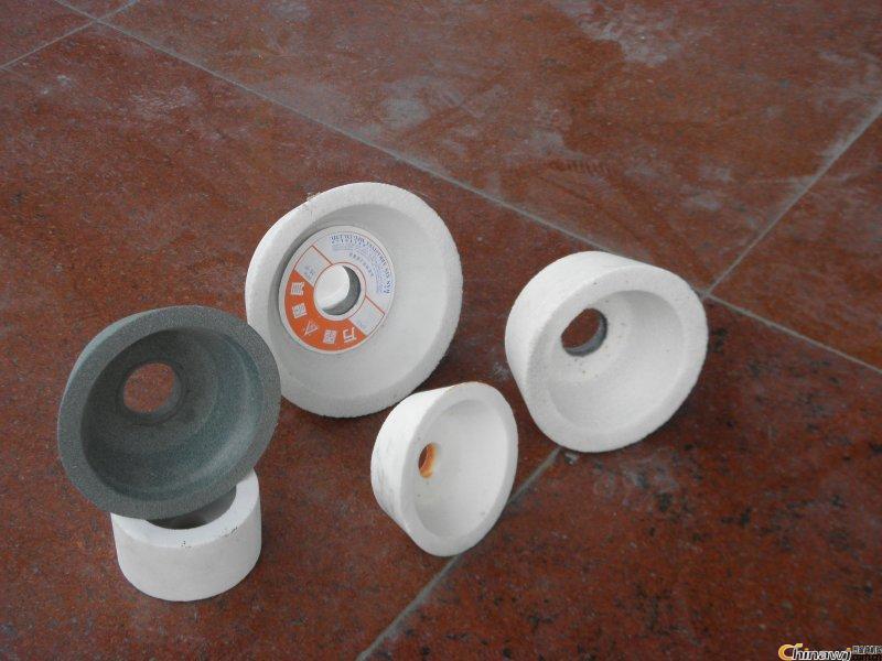 薦 優質品出口白剛玉杯形砂輪 規格200*75*63陶瓷砂輪 可定制