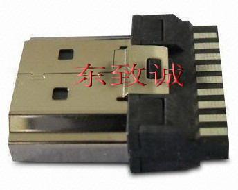 19PIN HDMI A-TYPE铜壳镀镍连接器