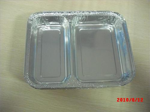 铝箔两格餐盒