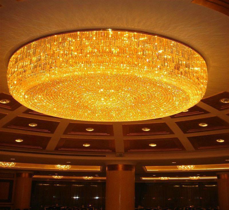 奢华水晶灯,吸顶水晶灯,酒店工程灯,中山水晶灯,定制吸顶水晶灯,猪